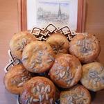 Французские закусочные кексы с козьим сыром и мятой