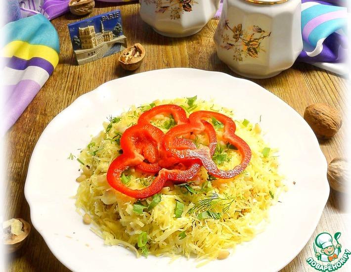 Рецепт: Салат Яблоки под сыром