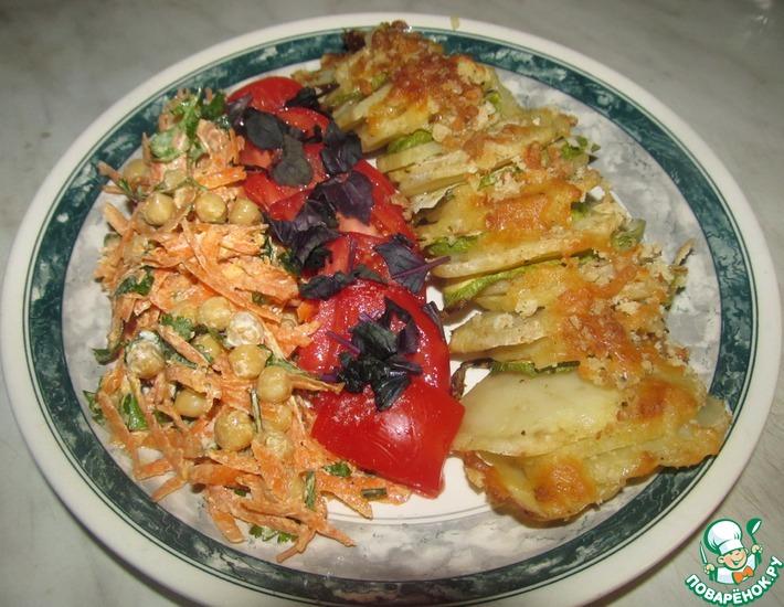 Рецепт: Гратен из картофеля и кабачков