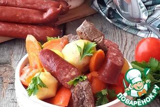 Рецепт: Страсбургское рагу с колбасками