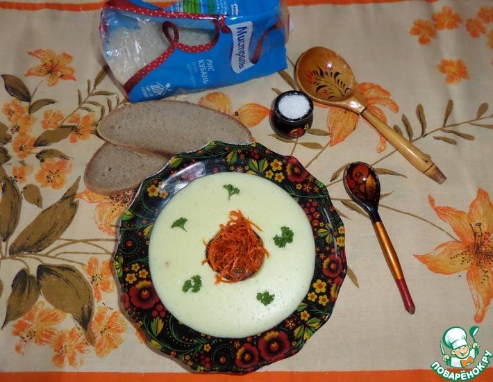 Рецепт: Молочный суп-пюре с рисом и кабачком