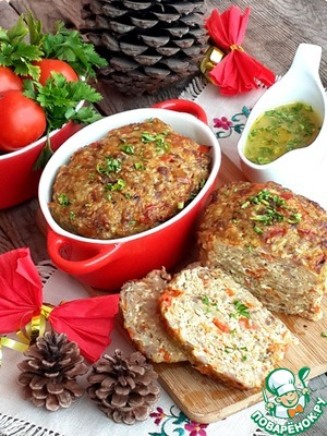 Meat loaf with millet and paprika