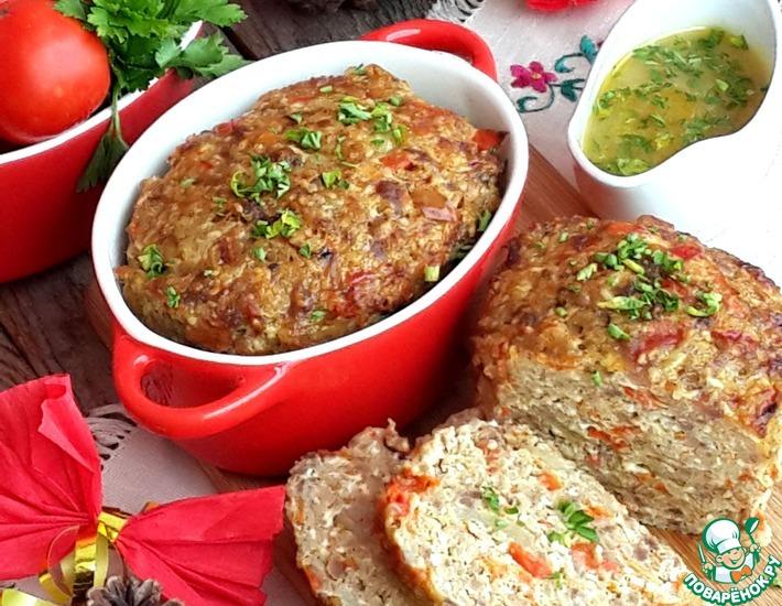 Рецепт: Мясной хлеб с пшеном и паприкой