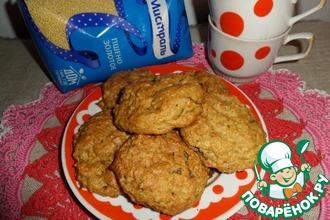 Рецепт: Печенье с пшеном и хурмой
