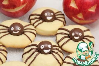 Рецепт: Печенье Паук на Хэллоуин