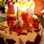 Торт крем-карамель Осень в Париже