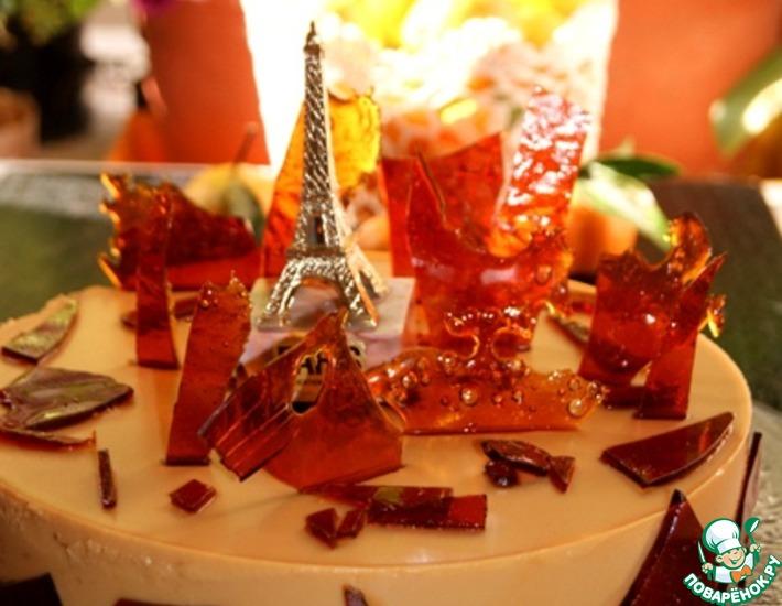 Рецепт: Торт крем-карамель Осень в Париже