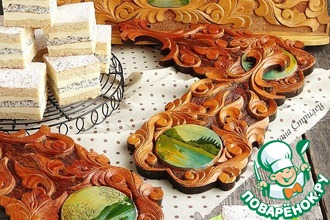 Рецепт: Медово-маковый торт с манным кремом