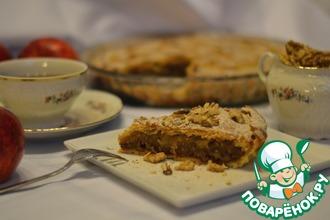 Рецепт: Песочный пирог с яблоками и карамелью