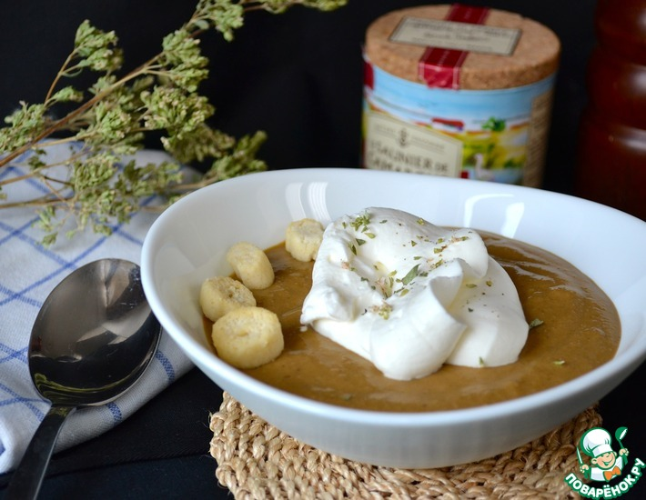 Рецепт: Велюте из сушеных белых грибов