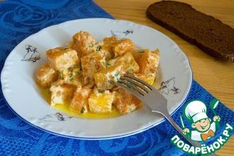 Рецепт: Тыква в сметанно-чесночном соусе