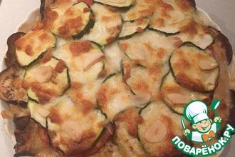 Рецепт: Осенний пирог с курицей без теста
