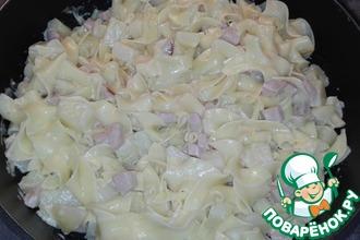 Рецепт: Макароны с картофелем в соусе