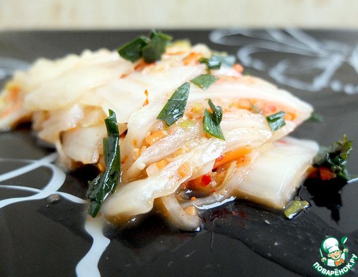 Рецепт: Кимчхи салат из пекинской капусты