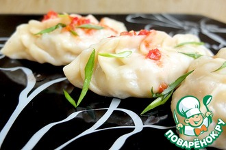 Рецепт: Корейские манты с кимчхи