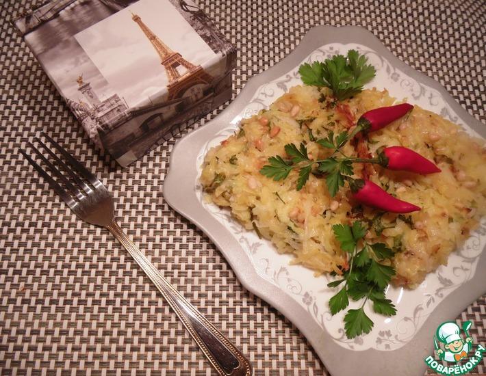 Рецепт: Картофель с кедровыми орешками