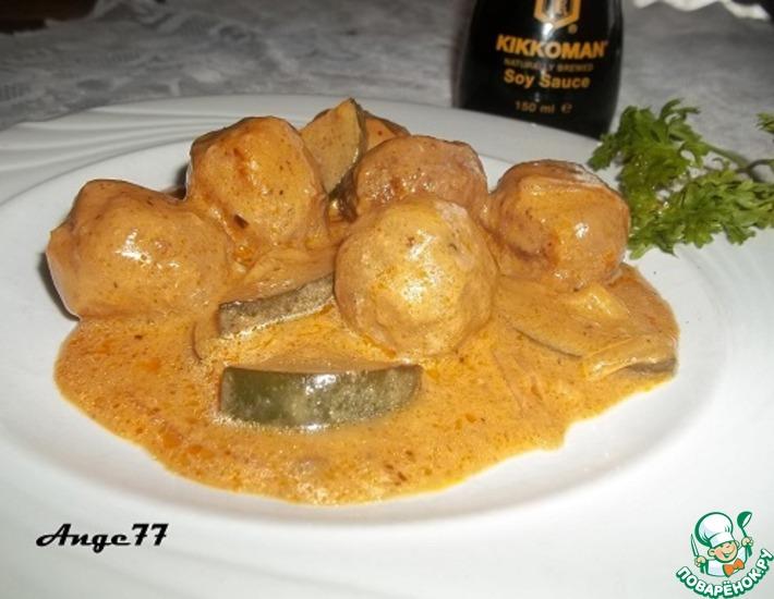 Рецепт: Тефтели в сливочном соусе