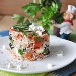 Теплый Греческий салат