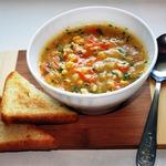 Кукурузный суп с курицей и морковью