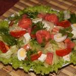 Салат с семгой и сельдерем