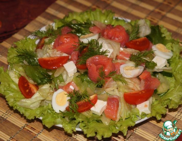 Рецепт: Салат с семгой и сельдерем