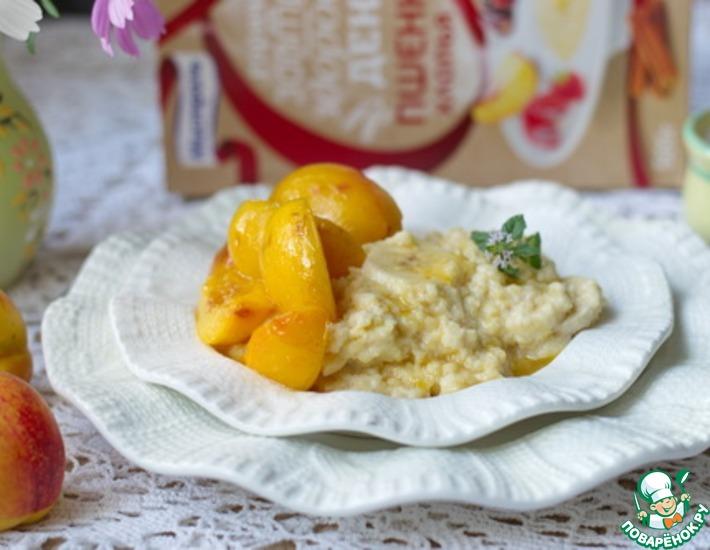 Рецепт: Каша из пшенных хлопьев с абрикосами
