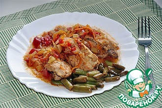 Рецепт: Тушеные ребрышки с овощами