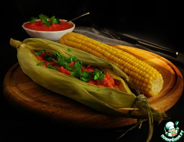 Рецепт: Рыба в мексиканском стиле с острой кукурузой