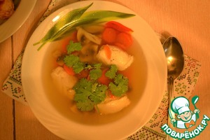 Рецепт Грибной суп с куриными кнелями