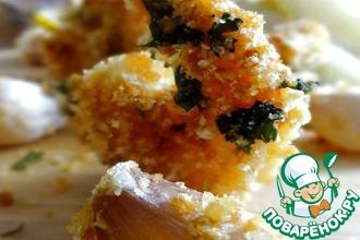 Рецепт: Креветки с гарниром из картофеля