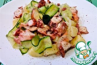 Рецепт: Осьминог с картофелем Почти салат