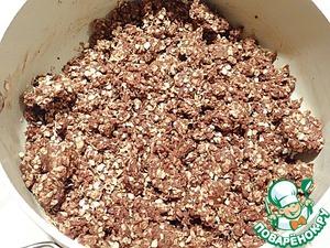 Шоколадные батончики с овсяными хлопьями – кулинарный рецепт