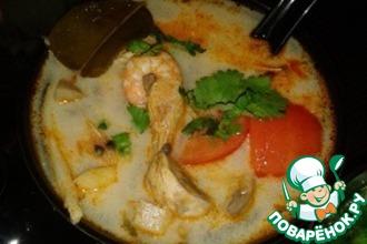 Рецепт: Настоящий тайский суп Том Ям