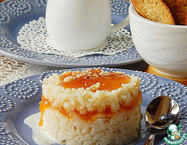 Рецепт: Сливочная рисовая каша с джемом