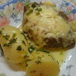 Шницели с яйцом и сыром