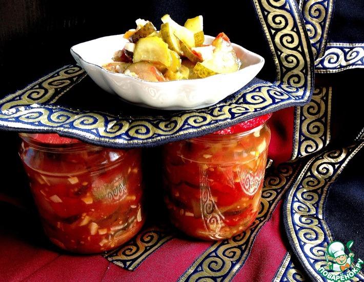 Рецепт: Салат из огурцов Грузинский