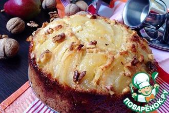 Рецепт: Пирог с карамелизированными грушами