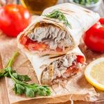 Начиненный лаваш по-турецки Рыба с хлебом