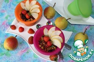Рецепт: Мюсли и фруктовый мини-десерт