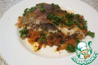 Рецепт: Лещ с помидорами и базиликом