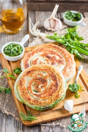 Flatbread with greens
