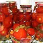 Маринованные помидоры с морковной ботвой