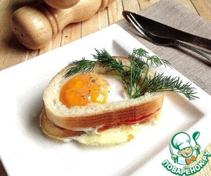 """Рецепт """"Вкусный"""" бутерброд с яичницей в СВЧ"""
