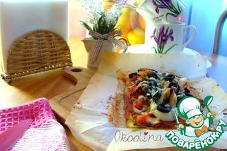 Рецепт: Пицца на кабачковой основе с морепродуктами