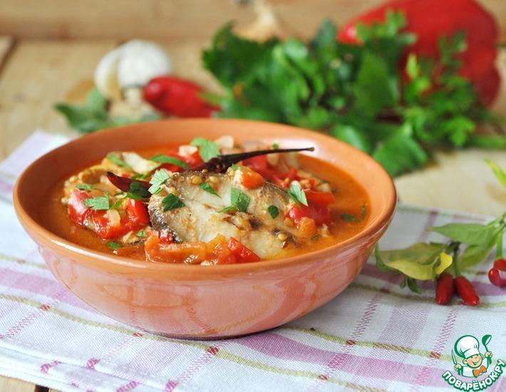 Рецепт: Рыба в остром томатном соусе
