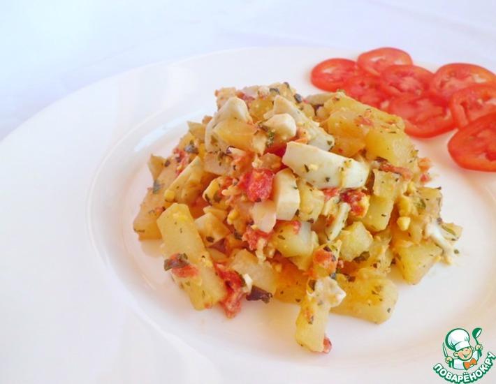 Рецепт: Жареный картофель с ароматной заправкой