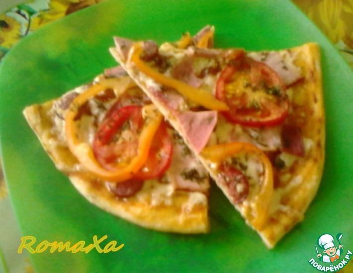 Рецепт: Пицца с баклажанами в аджике