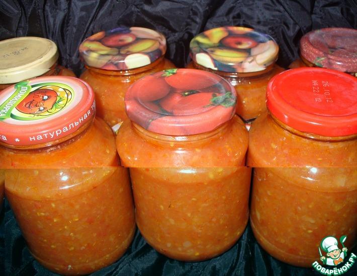 Рецепт: Заготовка из помидоров Заманиха