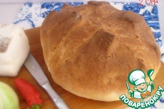 Рецепт: Горчичный хлеб на сыворотке