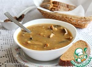 Рецепт Быстрый грибной суп с фасолью